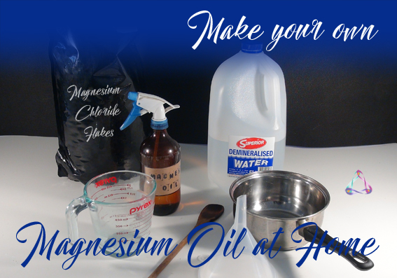 Make your own magnesium oil at home. Easy recipe!
